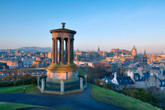 Edinburgh from Castle Hill Stock Photography