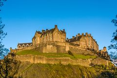 Edinburgh Castle. Is a historic fortress which dominates the skyline of the city of Edinburgh, Scotland, from its position on the Castle Rock. There has been a Royalty Free Stock Photography