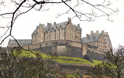 Edinburgh castle. Image of Edinburgh castle in Scotland. Some noise Royalty Free Stock Photography