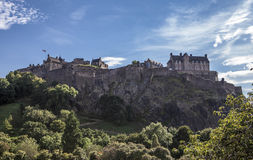 Edinburgh Castle. Looking up the hill at Edinburgh Castle. Edinburgh Castle Royalty Free Stock Photo