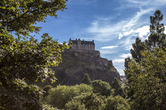 Edinburgh Castle2. Looking up the hill at Edinburgh Castle. Edinburgh Castle Stock Photography