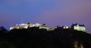 Edinburgh Castle at night Royalty Free Stock Photo