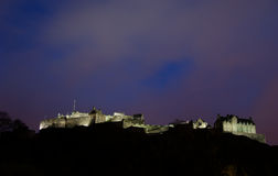 Edinburgh Castle at night Stock Image