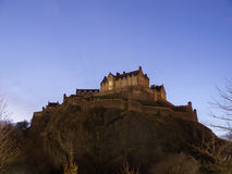 Edinburgh Castle At Night Royalty Free Stock Images