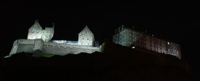 Edinburgh Castle night scene Stock Photo