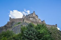 Edinburgh Castle on Rock Stock Photography