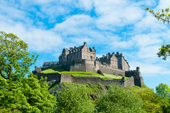 Edinburgh Castle. Royal Castle in Edinburgh, Scotland, UK Royalty Free Stock Photo