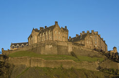 Edinburgh Castle, Scotland. Panoramic view of the Edinburgh Castle, Scotland Stock Image