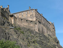 Edinburgh Castle, Scotland. Edinburgh Castle detail view, Scotland Stock Photos