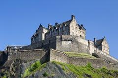 Edinburgh Castle in Scotland,. Against a blue sky Royalty Free Stock Photo