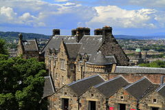 Edinburgh castle in Scotland Royalty Free Stock Photos
