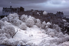 Edinburgh Castle, Scotland, GB. Edinburgh Castle with Royal Garden, Scotland, GB Royalty Free Stock Image