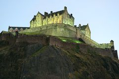 Edinburgh Castle, Scotland, at nightfall Royalty Free Stock Images