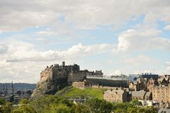 Edinburgh Castle, Scotland, from the south east. Royalty Free Stock Image