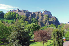 Edinburgh castle, Scotland. Edinburgh castle in summer, Scotland, UK Stock Photos