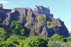 Edinburgh castle, Scotland. Edinburgh castle in summer, Edinburgh, UK Royalty Free Stock Photography