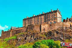 Edinburgh Castle Scotland. Edinburgh Castle in Scotland in the UK stock image