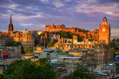 Edinburgh Castle, Scotland. View of Edinburgh castle from Calton Hill, Edinburgh, Scotland Royalty Free Stock Images