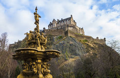 Edinburgh Castle in Scotland Royalty Free Stock Photography