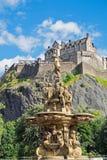 Edinburgh castle seen above Stock Image