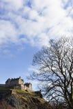 Edinburgh castle. Seen from princes street garden on a sunny day stock photo
