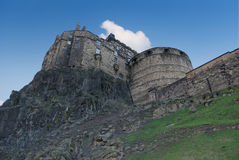 Edinburgh Castle side view Stock Photography