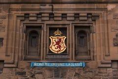 Edinburgh Castle sign - Edinburgh - Scotland - UK. Edinburgh castle sign (Castle main gate), Edinburgh, Scotland - UK royalty free stock photo