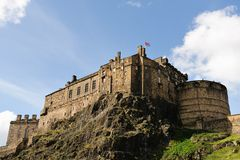 Edinburgh Castle from the South royalty free stock photo