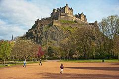 Edinburgh Castle in Spring Royalty Free Stock Photo