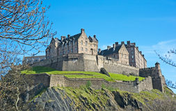 Edinburgh Castle in Springtime. Edinburgh Castle which dominates the skyline of the city seen on top of the volcanic rock royalty free stock image