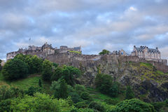 Edinburgh castle at sunrise Stock Photography