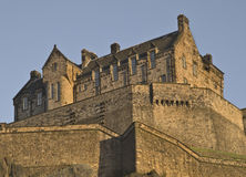 Edinburgh Castle at Sunset Stock Photography