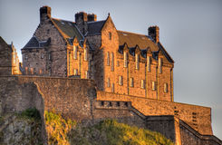 Edinburgh Castle in Sunset Royalty Free Stock Image