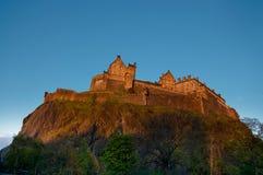 Edinburgh castle. At sunset, Scotland, UK stock photos