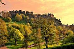 Edinburgh Castle sunset Stock Photos