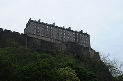 Edinburgh castle taken from the alternative angle of the Grassmarket Royalty Free Stock Photos