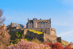 Edinburgh Castle under a clear sky Royalty Free Stock Images