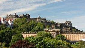 Edinburgh castle. View of the castle in Edinburgh Stock Images