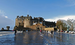 Edinburgh castle. A view of Edinburgh castle from the esplanade where the military tattoo is held stock image
