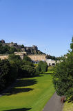Edinburgh Castle view from the park Stock Photo