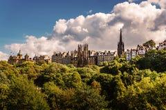 Edinburgh Castle View, Scotland Uk. Traveling in Europe stock photos