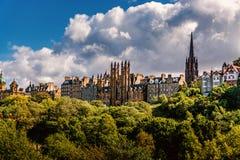 Edinburgh Castle View, Scotland Uk. Traveling in Europe royalty free stock image