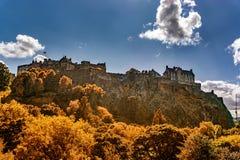 Edinburgh Castle View, Scotland UK. Traveling in Europe royalty free stock photo