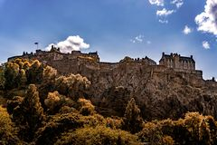 Edinburgh Castle View, Scotland UK. Traveling in Europe royalty free stock photography