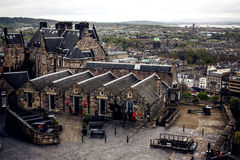 Edinburgh Castle viewed from Castlehill Royalty Free Stock Photo