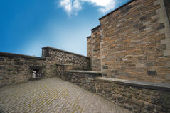 Edinburgh Castle Walls Stock Image