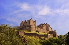 Edinburgh Castle on a warm sunny day Stock Photo