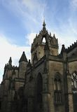 Edinburgh Cathedral. Gothic Cathedral looking very ominous Stock Photography