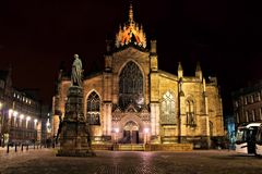 Edinburgh cathedral night view Stock Image