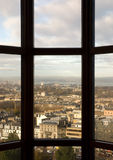 Edinburgh city. View on Edinburgh city, Scotland, through a window in Edinburgh Castle royalty free stock images
